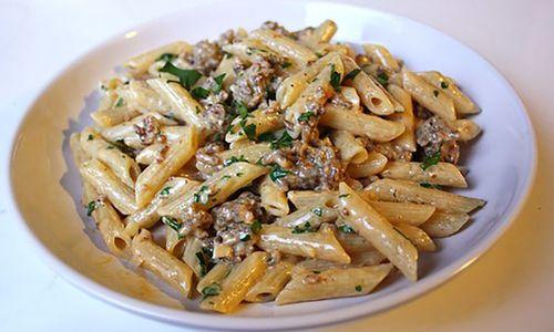 Ricetta Maccheroni con salsiccia e asparagi