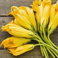Risotto allo speck e fiori di zucca