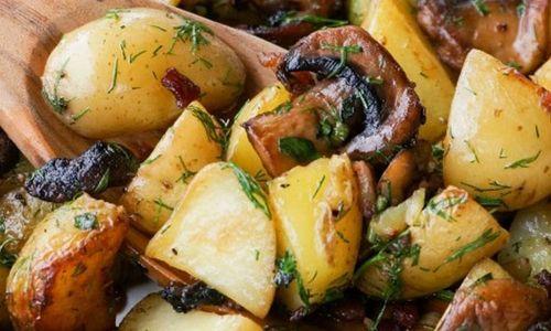 Ricetta Funghi con patate