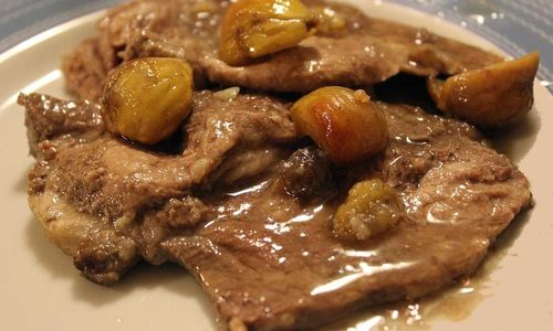 Ricetta Carrè di vitello e castagne