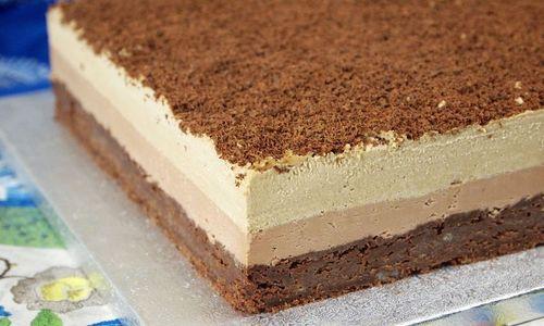 Ricetta Tronchetto semifreddo ai tre cioccolati