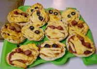 Pizzette mummificate di Halloween