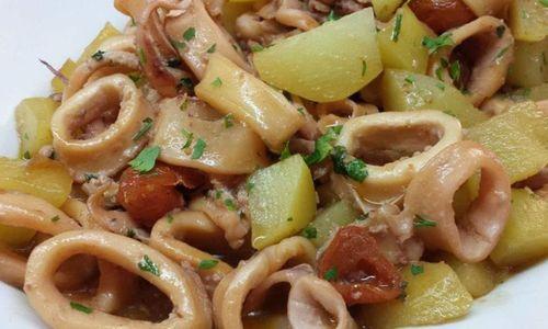 Ricetta Calamari e patate