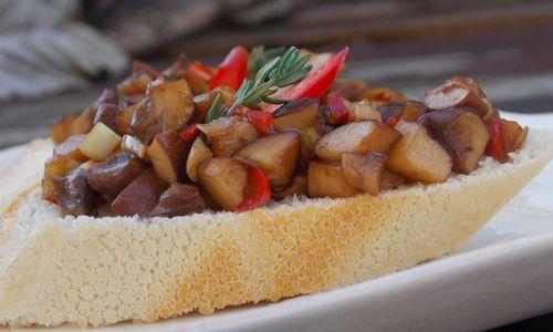 Ricetta Bruschetta con funghi porcini