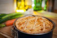 Torta salata di funghi e prosciutto