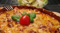 Lasagne verdi con scampi