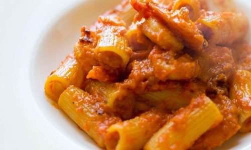 Ricetta Pasta con peperoni e cappesante