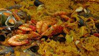Risotto con curry e frutti di mare