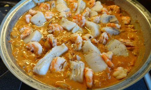 Ricetta Guazzetto di pesce al curry