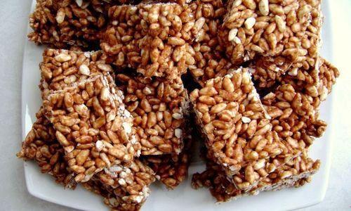 Ricetta Barrette al cioccolato e riso soffiato