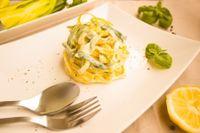 Tagliatelle con zucca e ricotta salata