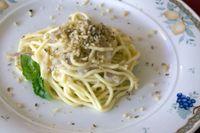 Pasta con gorgonzola e olive